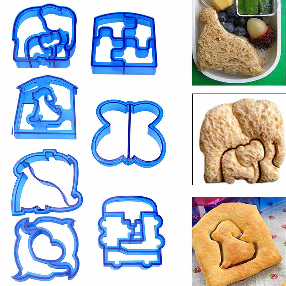 Kids DIY Lunch Sandwich Toast Cookies Mold Cake Bread Biscuit Food Cutter Mould Baking Cake Bread Toast Mould Maker