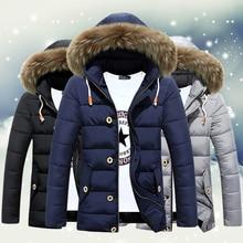 Herren Winter Baumwolle Gepolsterten Mantel Mit Hut Thermische Faux Pelz Hoodied Jacken Männlichen Lange Dicke Lose Warme Oberbekleidung