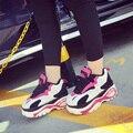 2017 Женщин Harajuku Квартиры zapatillas deportivas новые весенние туфли женщина увеличение пятки мода zapatos mujer случайный большой