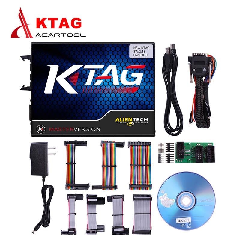 Prix pour 2017 Nouveau KTAG V2.13 Matériel V6.070 ECU Programmation Scanner Maître Version Non Jetons Limitée K TAG Livraison Gratuite