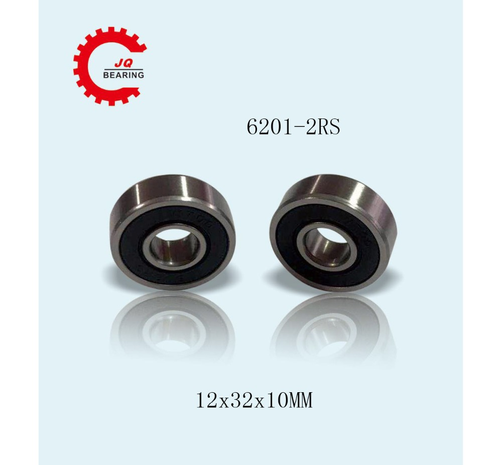JQ Bearings Bearing 6201 <font><b>6201RS</b></font> 6201RZ 6201-2RS1 6201-2RS 12x32x10 Shielded Deep Groove Ball Bearings Single Row image