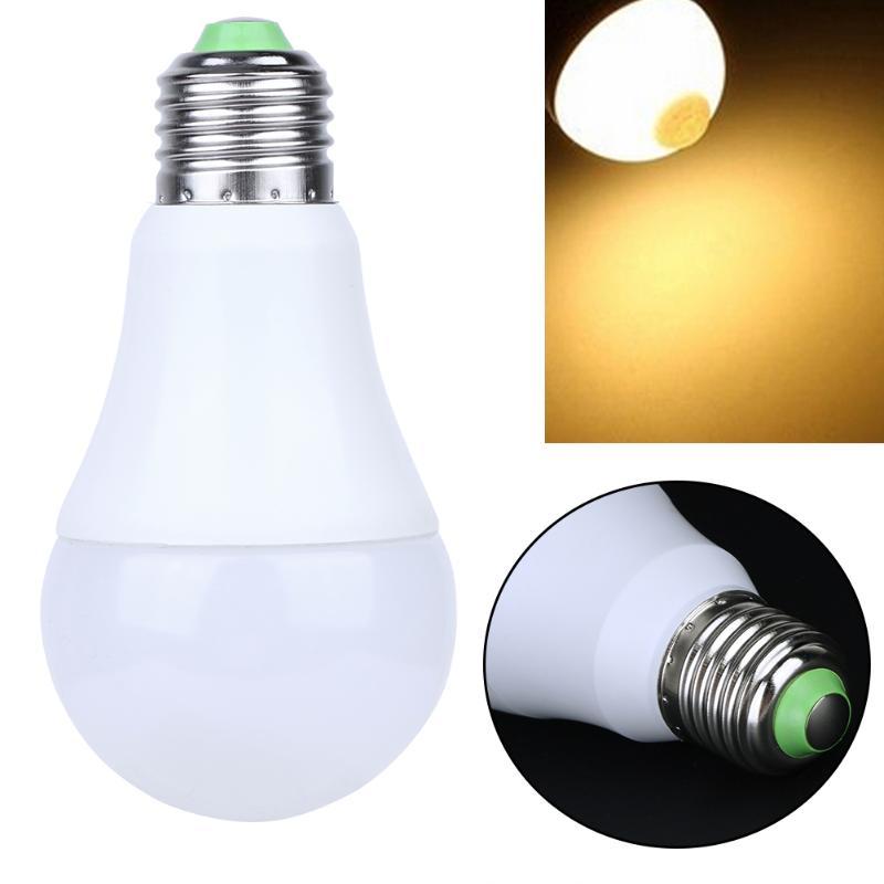 E27 7W AC 85V-265V 50Hz/60Hz Aluminum+PC White LED Bulb Auto Sensor Light Control LED Light Bulb Corridor+Light Sense