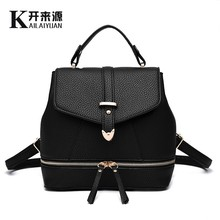 KLY 100% Genuine leather Women backpack 2016 NewFashionista Backpack New Spring and summer fashion leisure Korean women students