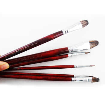 Memory brand Mixed Size Squirrel Hair Paintbrush for watercolor oil paint Art Supplies 6pcs Set