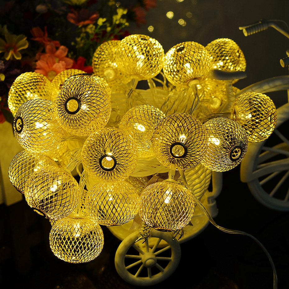 YINGTOUMAN 31V Plugs Iron Lights 4.8m 30led Lamp Christmas Garland Light Fairy Xmas Wedding Festival Home Pendant Decoration ...