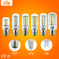 Bombillas LED Bulb E14 SMD 5730 AC 110V 220V 7w 12w 15w 18w 20w 25w 30w Led Lamp E27 Corn Light Chandelier Candle Lighting