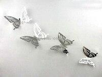 Darmowa Wysyłka 10X10 CM Ślubne Kreatywny Butterfly Naklejki Ścienne Trójwymiarowe Lustro Ze Stali Nierdzewnej Strona Główna Dekoracje Ścienne