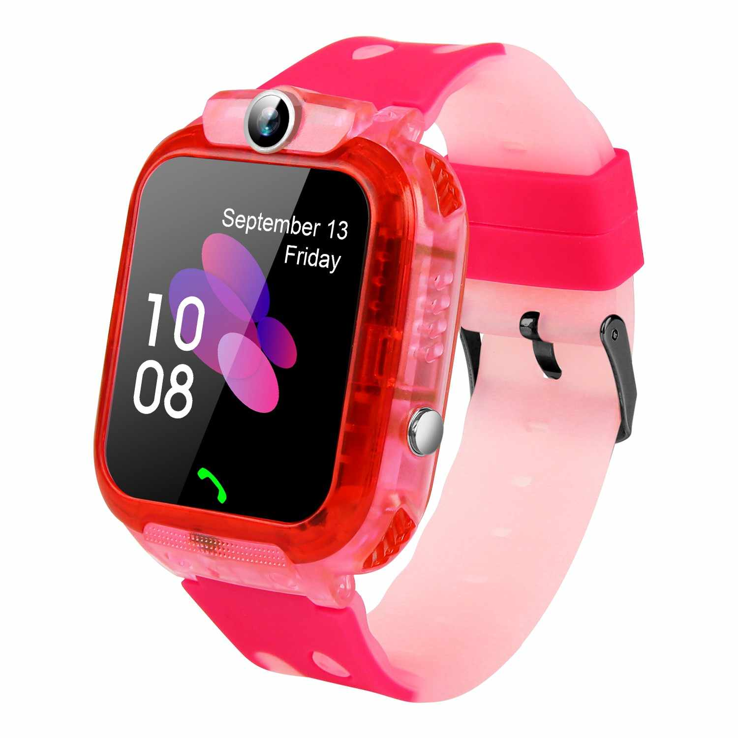 DS64 Waterproof Children's Smart Watch SOS+GSM+LBS Anti-lost Phone Watch with digital clock & Touch Screen +Voice Monitor
