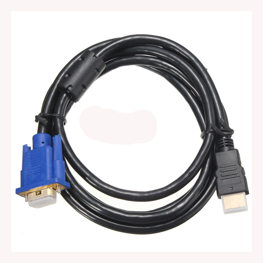 hdtv 1 8 m hdmi macho a vga cable adaptador cable conector para pc tv negro en de en aliexpress com alibaba group [ 1100 x 1100 Pixel ]