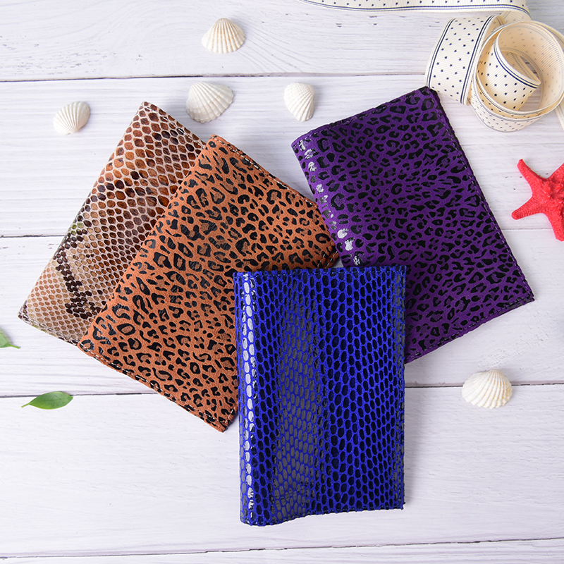 1PC Fashion PU Leather Passport Holder Passport Leather Travel Snake/Leopard Wallet Women Sexy Credit Card Holder Passport Cover 3d skull floral pu leather passport cover wallet travel function credit card package id holder storage money organizer clutch