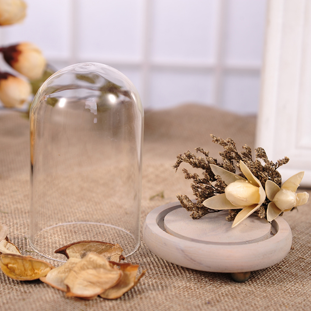 Dried Flowers Creative Terrarium Vase With Gold Flowers 3