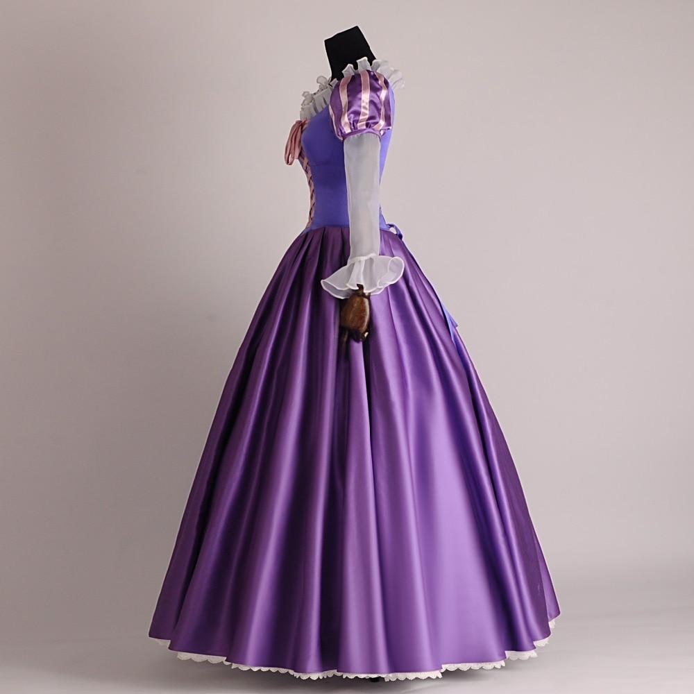 Rapunzel Fancy dress Tangled Cosplay trajes traje adulto para ...