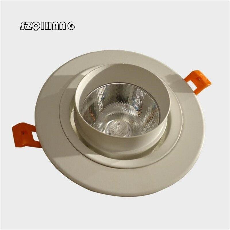 Le plus nouveau Downlight de l'épi 30 W de coquille blanche légère de taille Dimmable LED Downlight enfoncé LED vers le bas allume le blanc froid chaud AC110V/AC220V