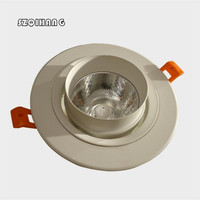 Newest Hight light White shell 30W COB Downlight Dimmable LED Downlight Recessed LED Down Lights Warm Cold White AC110V/AC220V