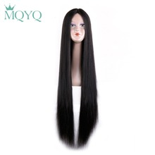 MQYQ Human Hair Lace Front Wigs For Black Women Straight Lace Front Wigs Long Middle Part Lace Frontal Wig Remy Hair
