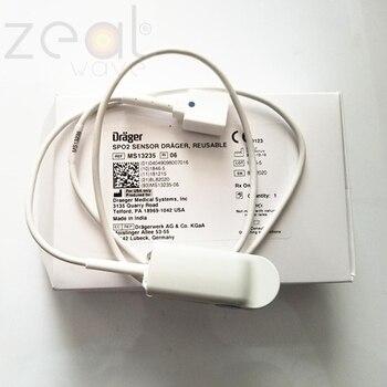 FOR Drager Original Adult Finger Clip MS13235 Blood Oxygen Probe  ECG Monitor