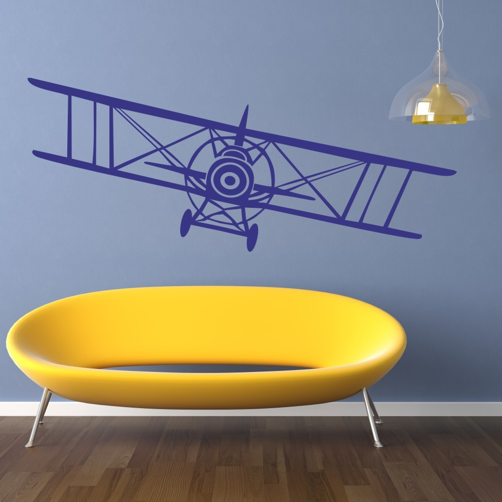 Huge bi plane vinyl wall decal sticker vintage airplane bi plane huge bi plane vinyl wall decal sticker vintage airplane bi plane aeronautical pilot wall art decal 15h x 46w in hair clips pins from beauty health on amipublicfo Image collections