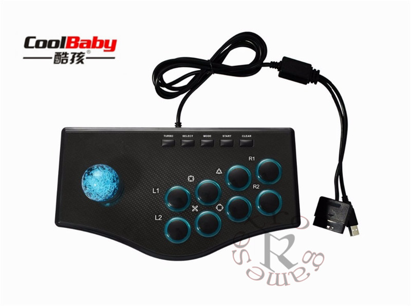 USB Fighting Stick Arcade Joysticks Gamepad Rocker Controller Plug And Play Street Game Fighting Gamepad For PS3/PC For Android image