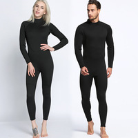 2mm Men And Women Full Black Long Sleeve Trousers Diving Suits One Piece Diving Suits Surfing