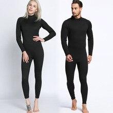 2mm hommes et femmes, noir complet à manches longues pantalon, combinaisons de plongée, d'une seule pièce combinaisons de plongée, surf vêtements, chaud et imperméable swimm