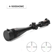4-16X50AOMC Tratical Hunting Scopes Red Green Mil Dot Scope Long Range Hunting Scopes For Air Gun Airsoft Hunting