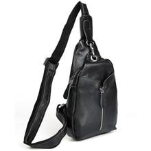 2017 Handmade Unisex Messenger Sling Bag Mens Black Genuine Leather Crossbody Bag Casual Style 3041