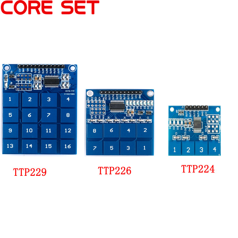 TTP224 TTP226 TTP229 Digital Touch Switch Module 4 8 16 Channel Way Capacitive Touch Switch Sensor Module For Arduino