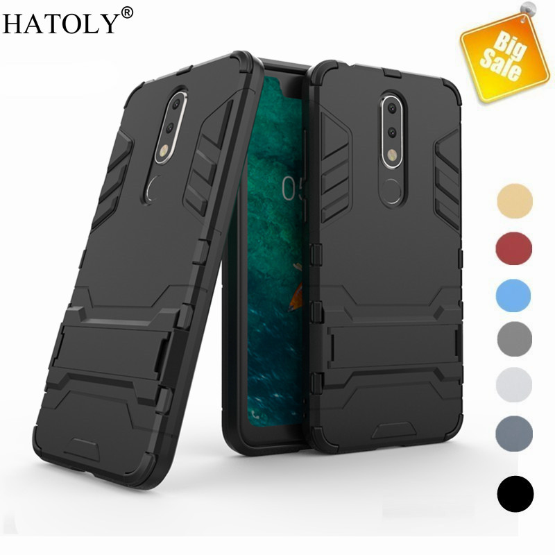 Capa For Nokia 5 1 Plus X5 Case Cover Armor Case For Nokia 5 1 Plus Shockproof Back Hard Cover For Nokia 5 1 Plus Funda Bumper in Fitted Cases from Cellphones Telecommunications