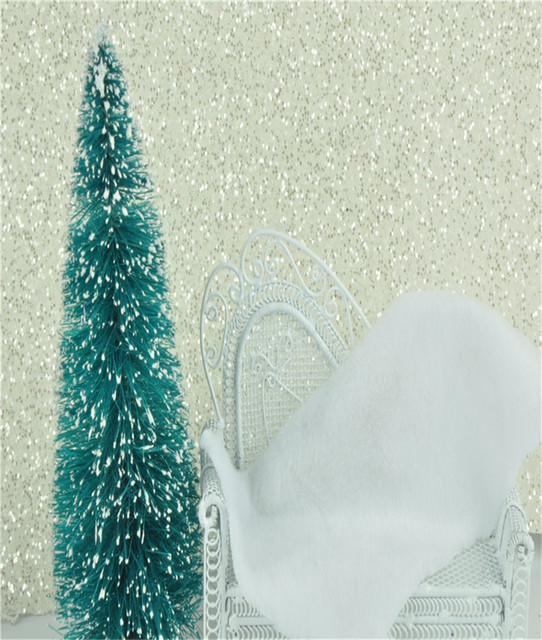 8 meter Bedroom white glitter paper Damask Glitter Wallpaper Roll Flocking  PU paper wall covering textured paper Home Decoration a1e842f1c70d