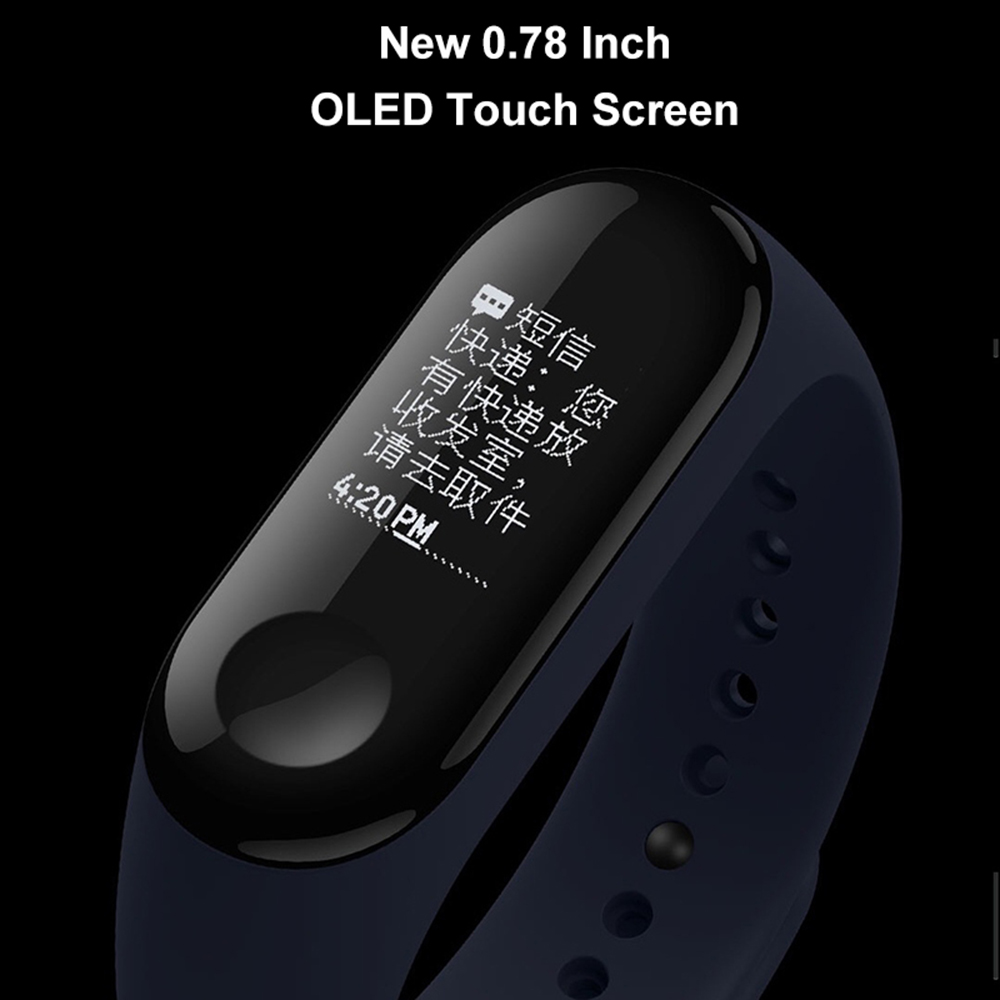 New Original Global Xiaomi Mi Band 3 Smart Bracelet Wristband 0.78 Inch Oled Instant Message Caller Id Miband 3 Fitness Tracker #5