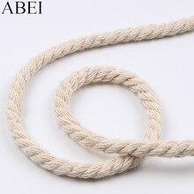 10 ярдов 5 мм хлопок нить лента витой веревочный шнур шпагат ремесло хлопок шнуры для украшения ручной работы