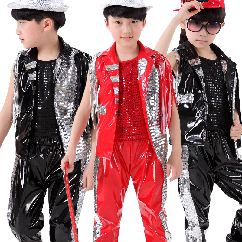 10pcs lot free shipping sequin hip hop wear for