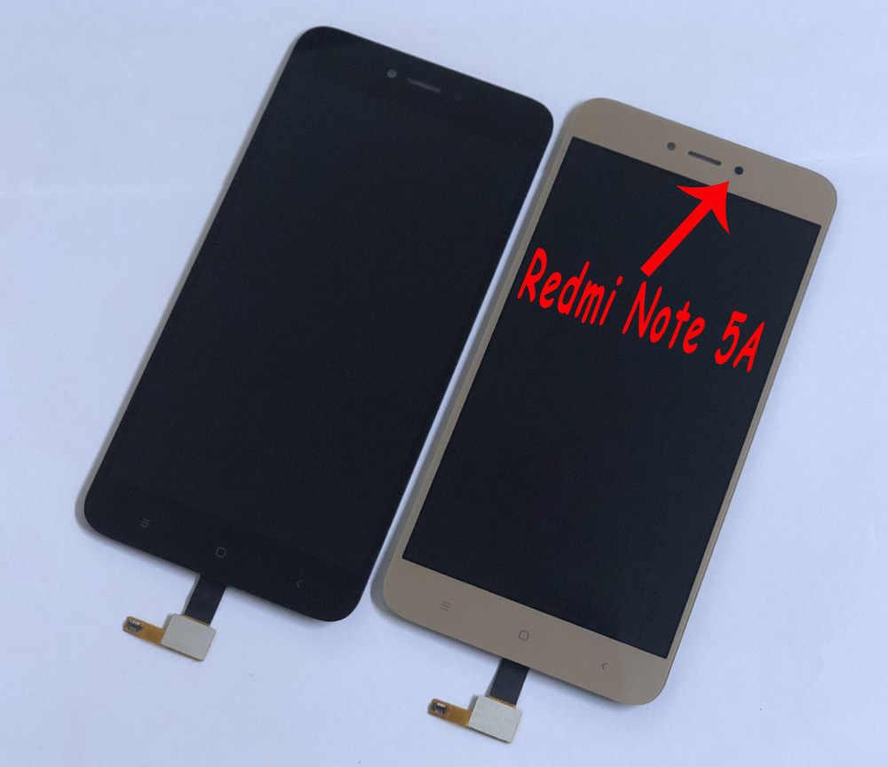 ل شاومي Redmi نوت 5A MDG6/Redmi نوت 5A Prime MDG6S محول الأرقام بشاشة تعمل بلمس لوح مستشعر + جهاز مراقبة بشاشة إل سي دي تجميع