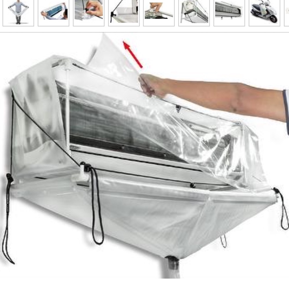 Hanging Air Conditioner Washing Cleaning Waterproof Cover Protector Home S// M// L