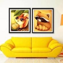 CV – Mosaic Needlework 5D Diy Diamond Painting Cartoon Animal Pictures