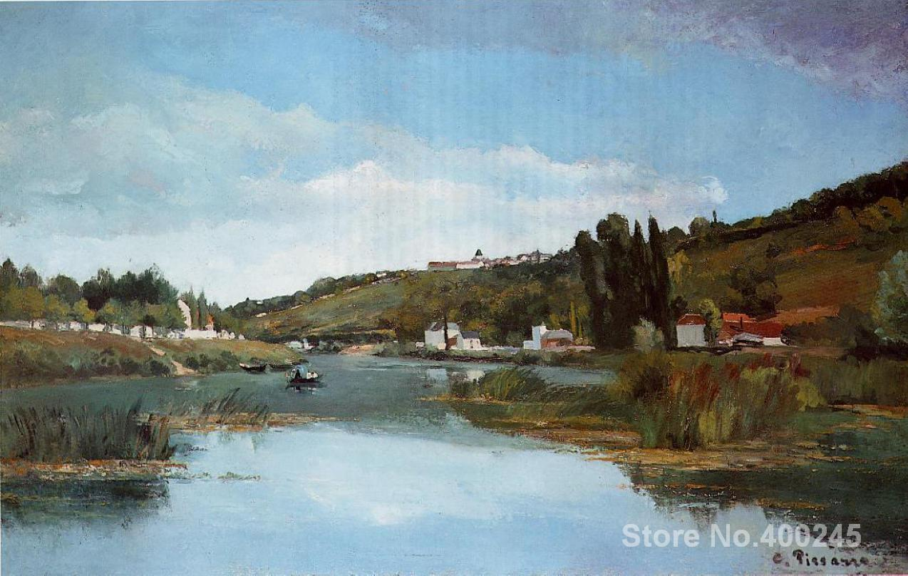 artwork of Camille Pissarro The Marne at Chennevieres handmade art paintings reproduction High Quality