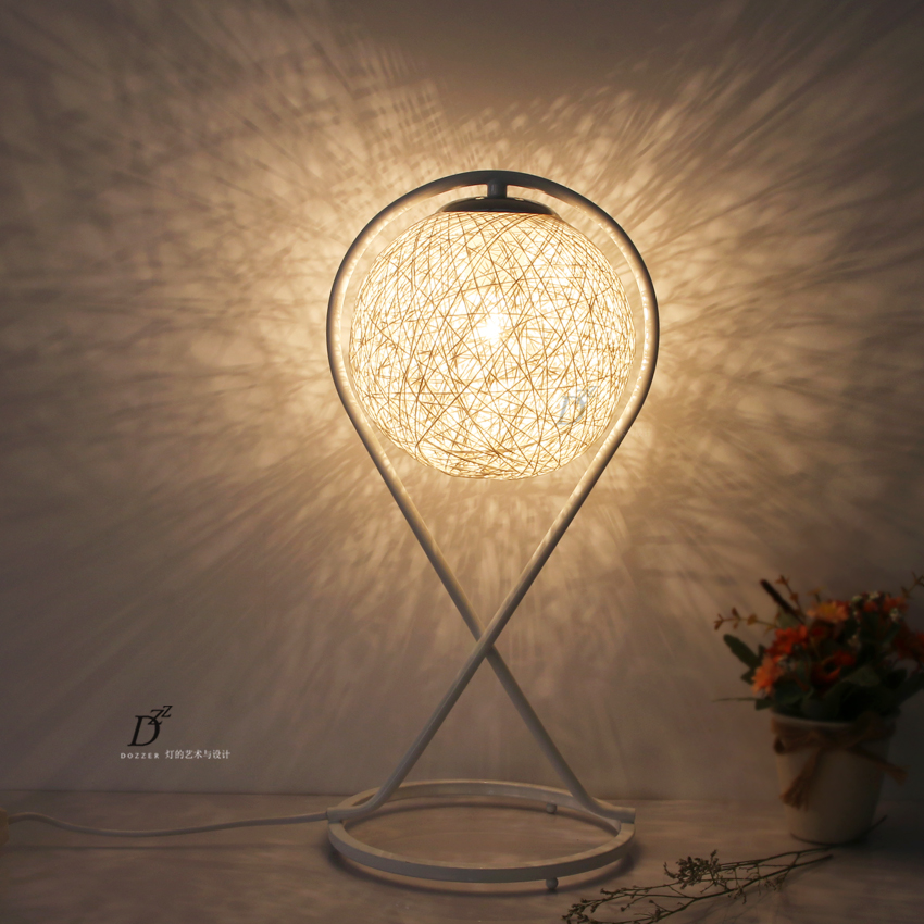 The light of art and design of modern minimalist iron hand woven the light of art and design of modern minimalist iron hand woven rattan lamp shade room bedroom living room lamp in novelty lighting from lights lighting mozeypictures Image collections
