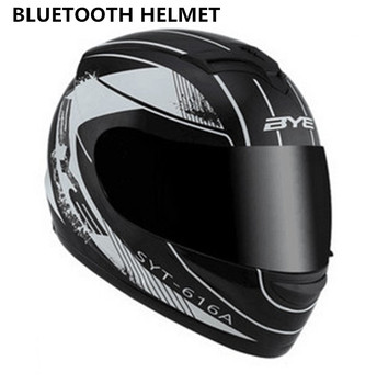 2018 New Motorbike Bluetooth Smart Helmet Motorcycle Integral/full Face Built in Intercom Device Support apple and Android