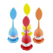 2Pcs Silicone Infuser Loose Tea Leaf Strainer Herbal Spice Filter Diffuser New wholesale sale