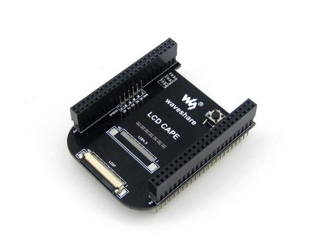 Módulo Waveshare LCD CABO (7 polegadas) Placa de Expansão BeagleBone Preto Placa Suporta 7 polegadas LCD touchscreen resistiva