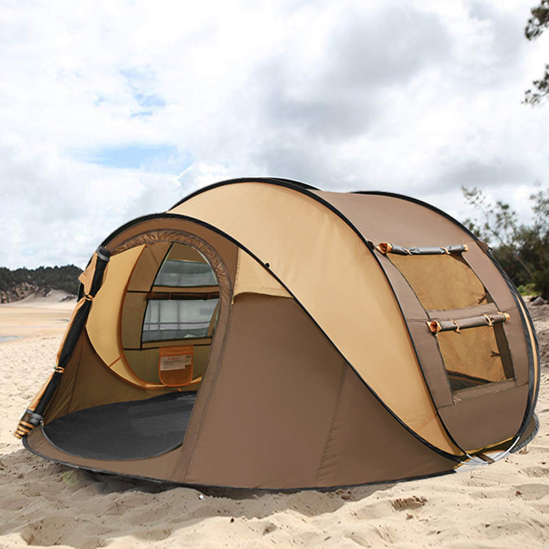 Automatic Open Tent Quick Outdoor Pop up Tent Camping Beach Family Tent 4 Person otomatik çadır