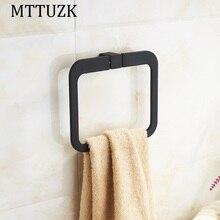 MTTUZK Простой нержавеющей стали хром ванной площадь кольца для полотенец ванной полотенце аппаратных кулон Вешалка Для Полотенец Аксессуары Для Ванной Комнаты