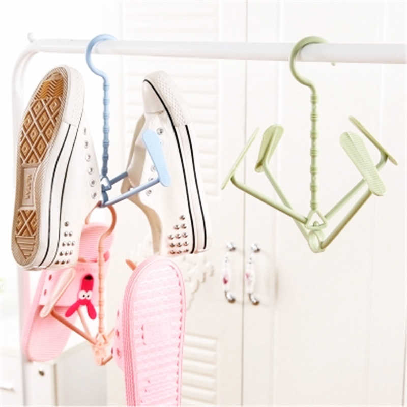 4 Hooks Plastic Shoes Drying Rack  360 Degree Shoes Hanging Storage Shelf Drying Rack Shoe Rack Stand Hanger Organizer