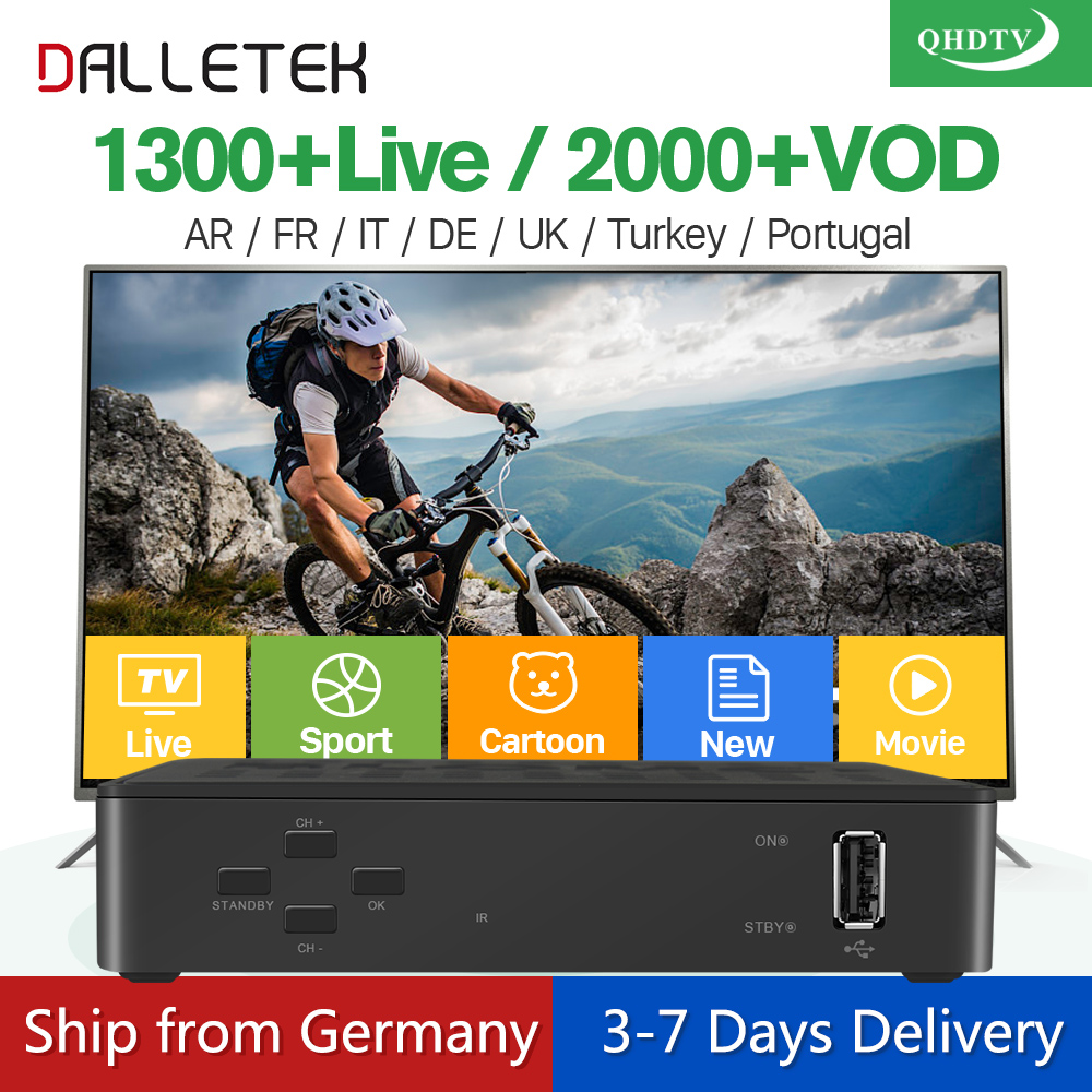 Dalletektv IPTV STB Linux Smart TV Box IPTV 1 Year Account QHDTV Subscription IPTV Europe French Arabic IPTV Box PK MAG250