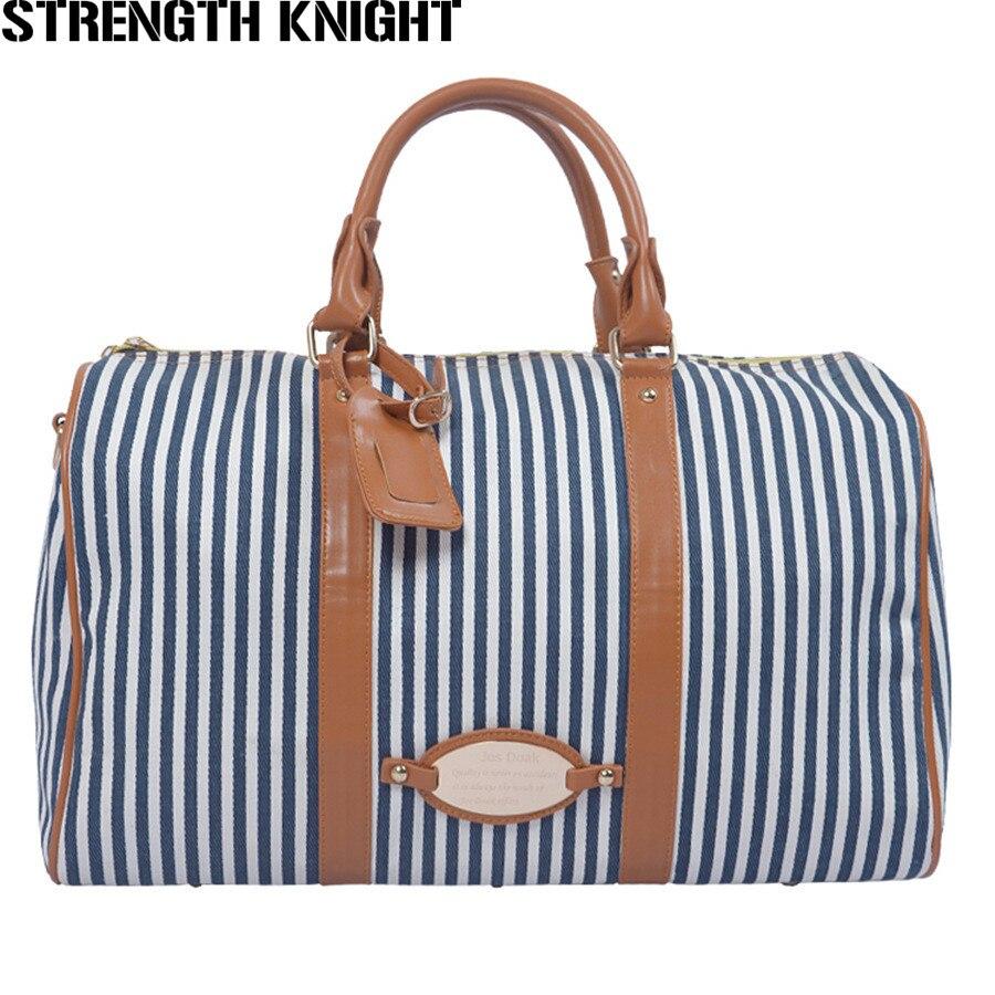 2016 New Arrive Travel Bags Leisure Canvas Bags Fashion Luggage Bag Casual Striped Handbag Travel Bag S67