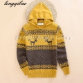Spring and autumn 100% Cotton boy sweater / European and American fashion Hooded pullovers sweater jacket children / gift