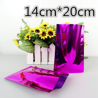 100Pcs/Lot 14*20cm Purple Aluminum Foil Coffee Packaging Open Top Heat Seal Mylar Foil Pouch For Food Snack Storage Vacuum Bag