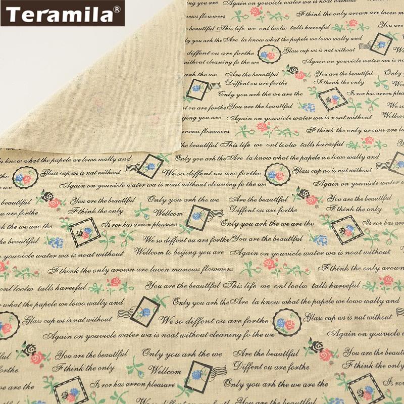 Cojín almohada zakka impresión cartas teramila textiles para el hogar material d