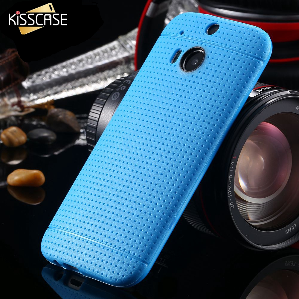 KISSCASE Silicone TPU Hole Phone Case for HTC One M8 Fashion Soft Protective Accessories Cover Bags Black Brown for HTC</f