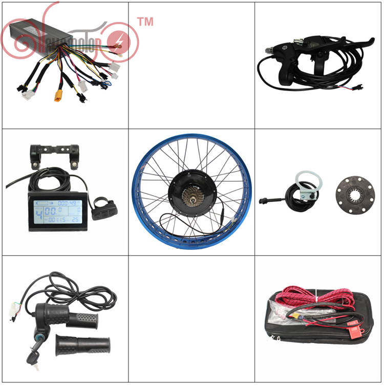 Free Shipping ConhisMotor 48v 1000w Fat Tire Chopper Rear Wheel Ebike Conversion Kit Sine Wave Controller for Electric Bicycle  front or rear motor 65km h max snow ebike kit 48v 1500w ebike fat tire wheel conversion kit with lithium battery pack